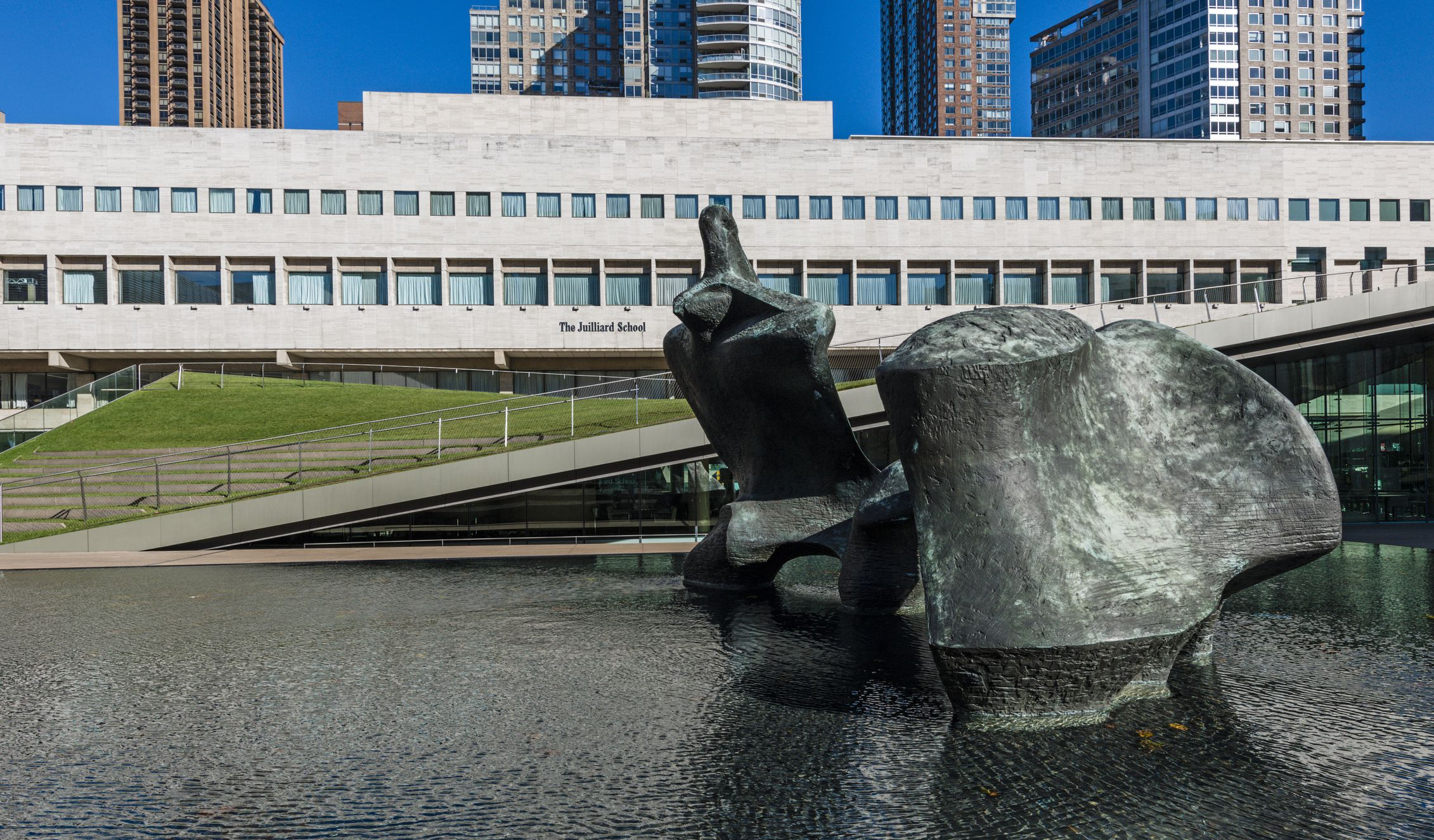 The Juilliard School and Reflecting Pool at Lincoln Center