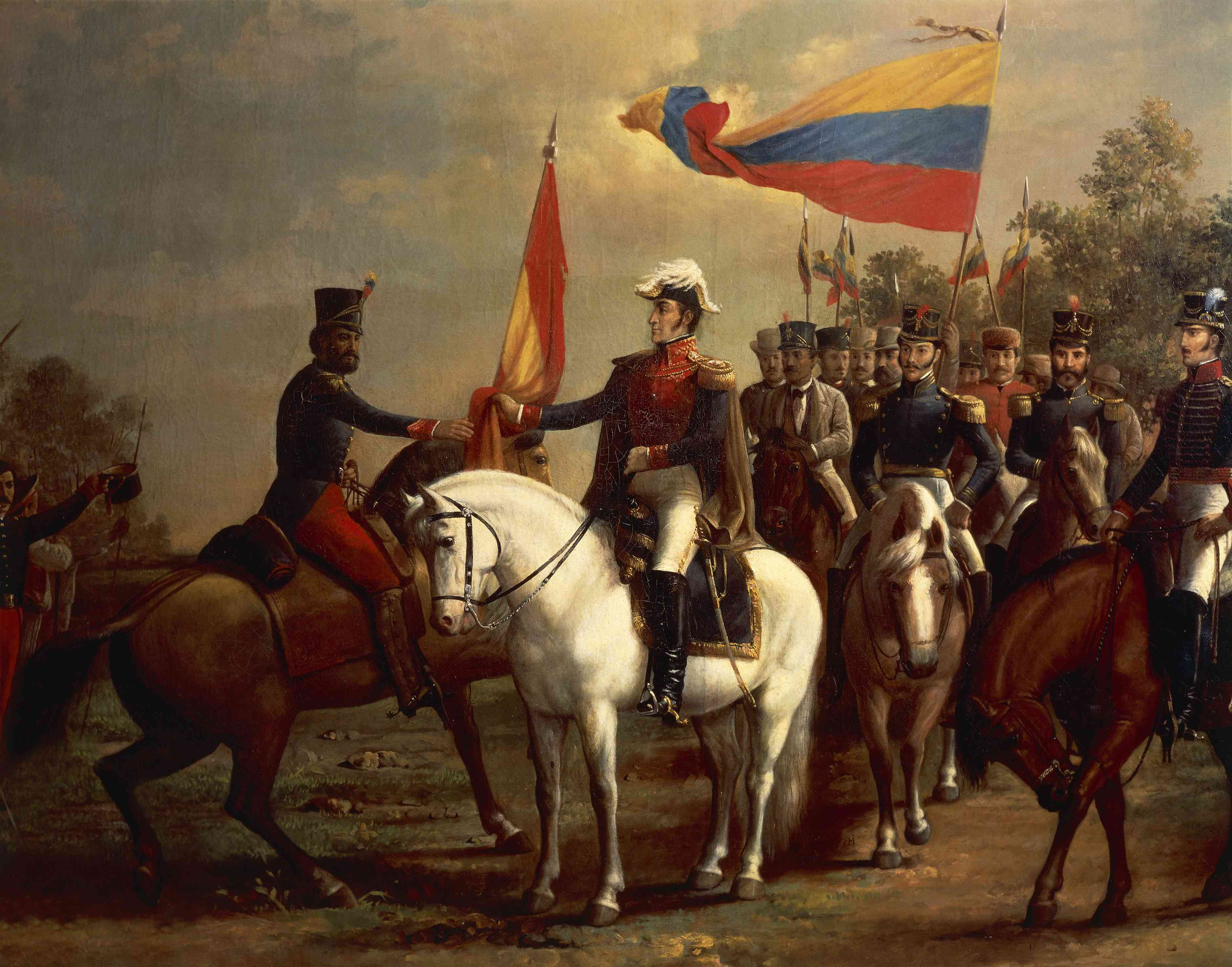 Simon Bolivar during Latin American wars of independence