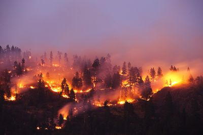 Wildfire Red Flag Warning Extreme Burning Conditions