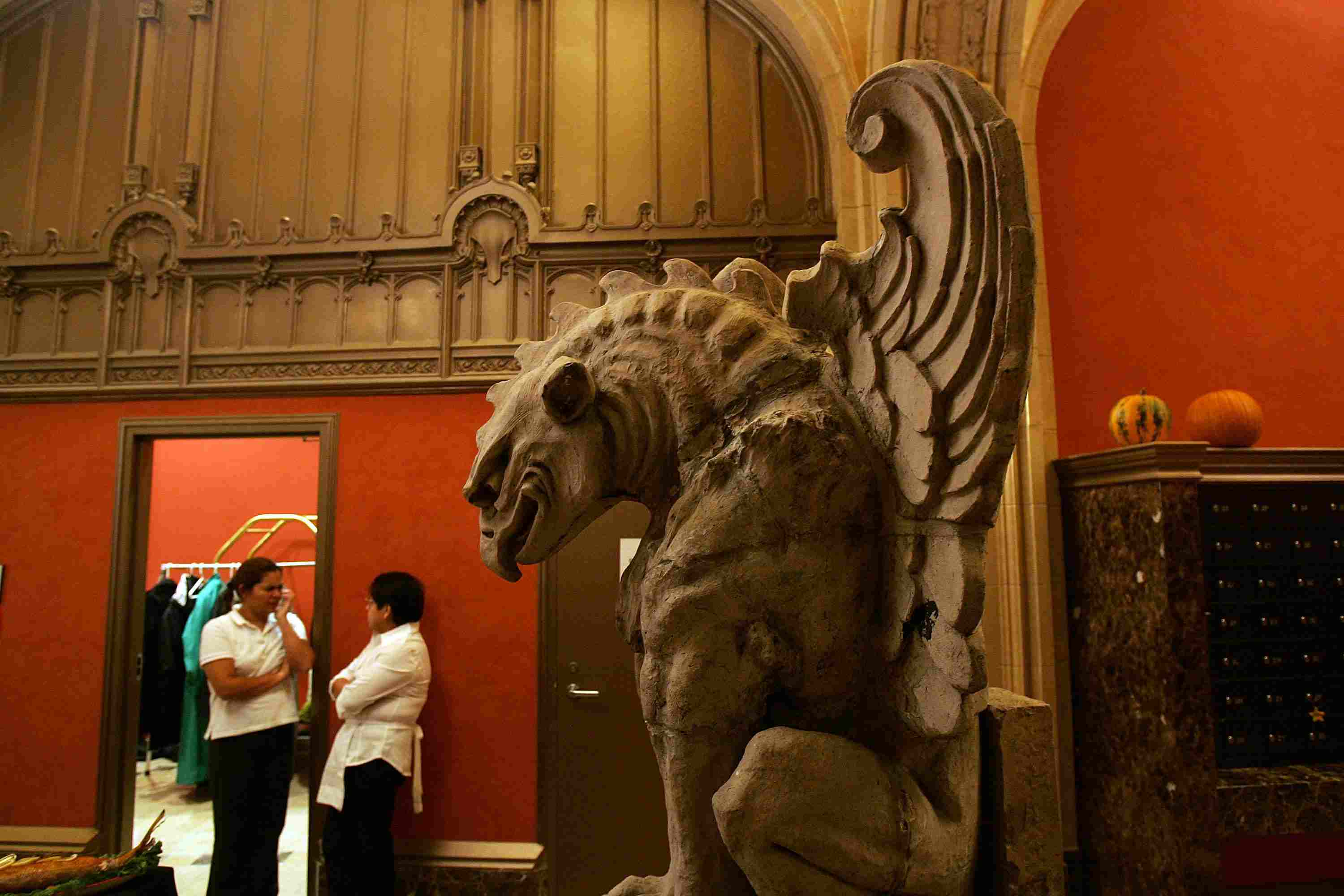Large, rescued Griffin from Cass Gilbert's 1907 skyscraper at 90 West Street