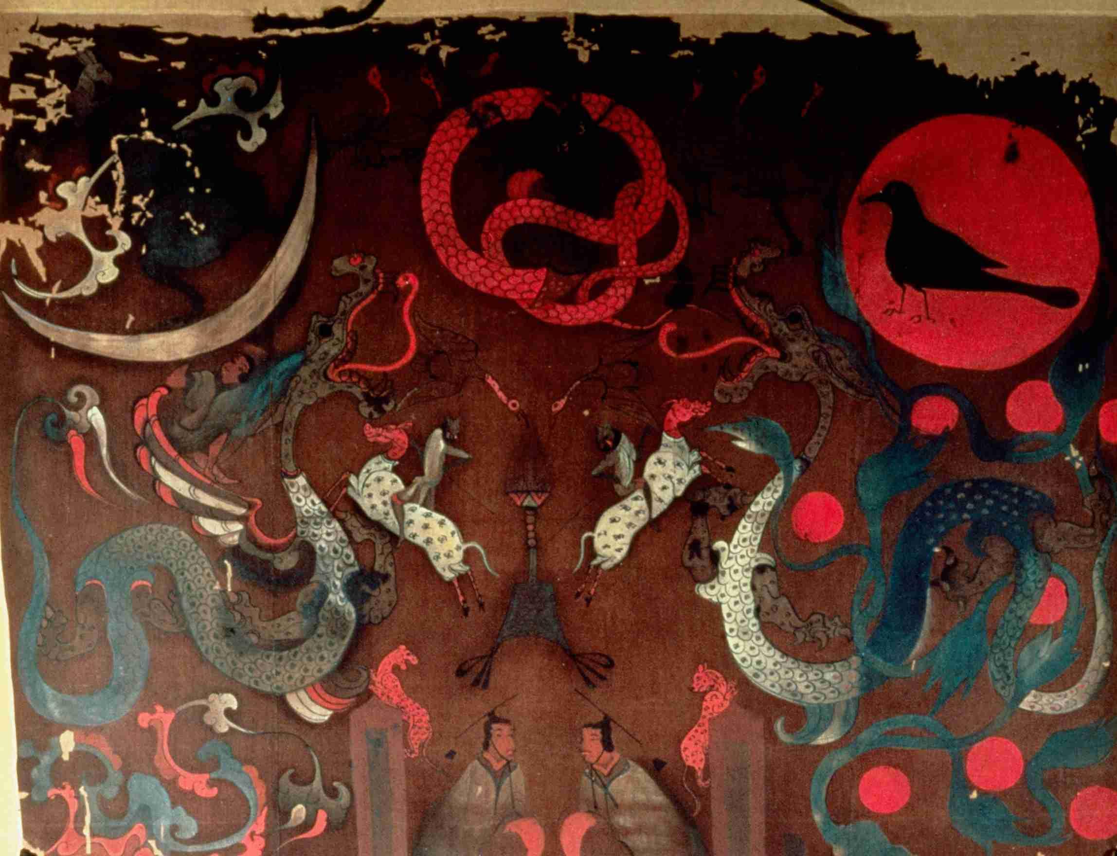 Top Detail of Lady Dai's Funeral Banner, Mawangdui, Han Dynasty