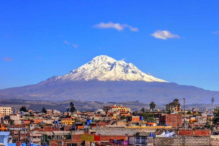 Chimborazo from the city of Riobamba