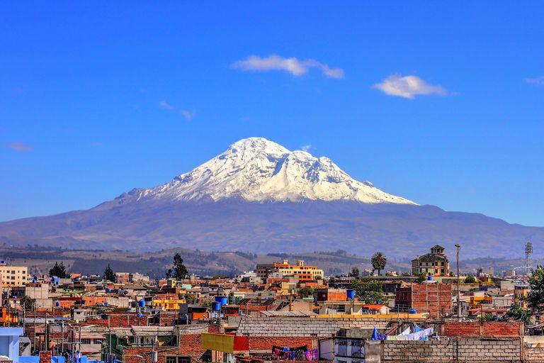 Chimborazo from the city of Riobamba