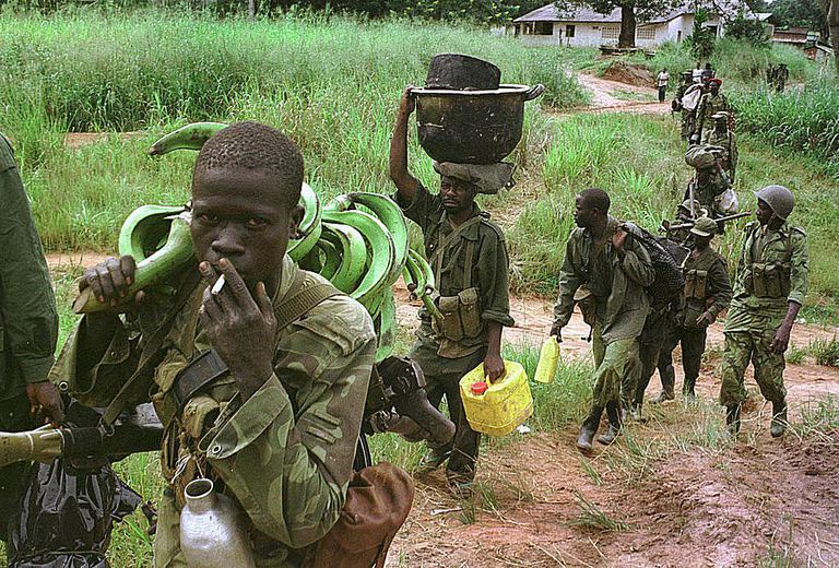 essay about child soldiers in africa This is the first lesson of a three part unit that will build towards having the students research and write a paper on child soldiers unit overview : this unit will guide students though the process of reading multiple texts to develop knowledge about the topic of child soldiers and will culminate in a final research project.