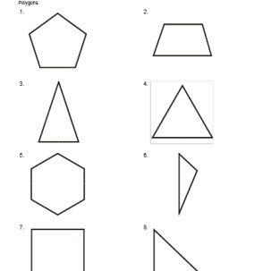 Geometry Worksheets: Polygons Angles and Vertices