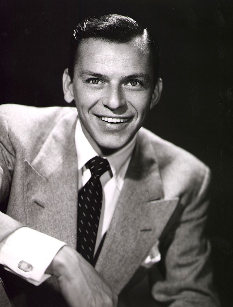 A picture of actor and singer Frank Sinatra.