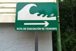 Tsunami sign in Chile