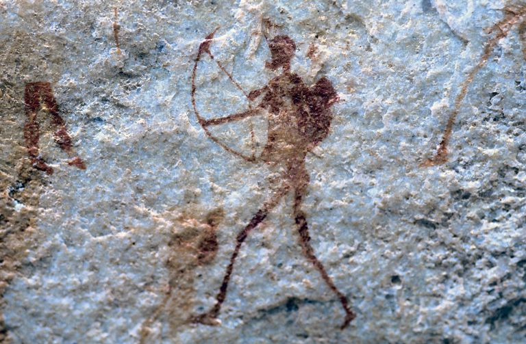 San Bushman Rock Art, Sevilla Rock Art Trail, Traveller's Rest, Cederberg Mountains, Clanwilliam, Western Cape Province, South Africa