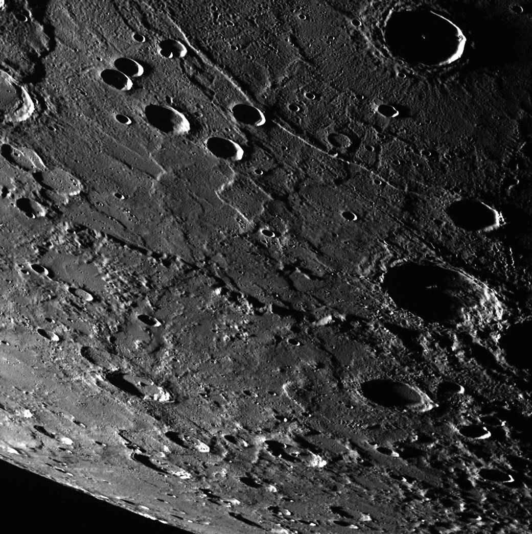 Mercury's surface.