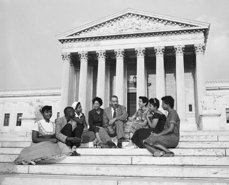 Thurgood Marshall and Little Rock Students