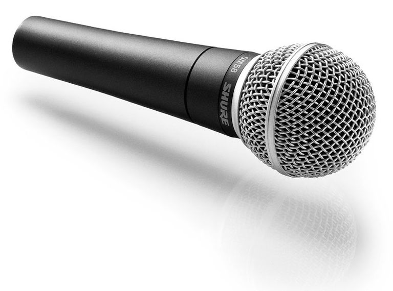 A genuine Shure SM58 microphone.