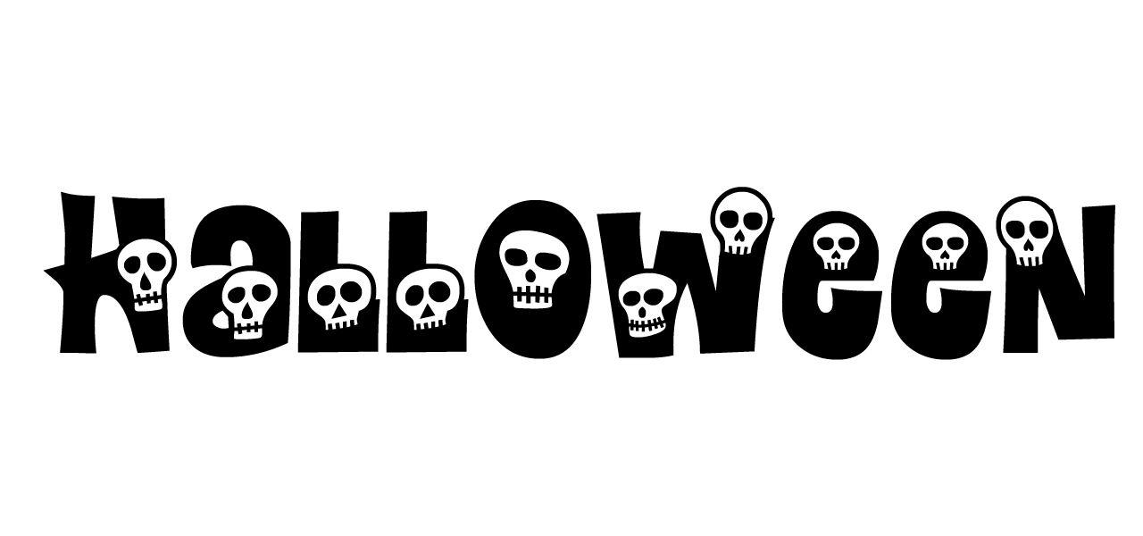 """Halloween"" in Calaveras font."