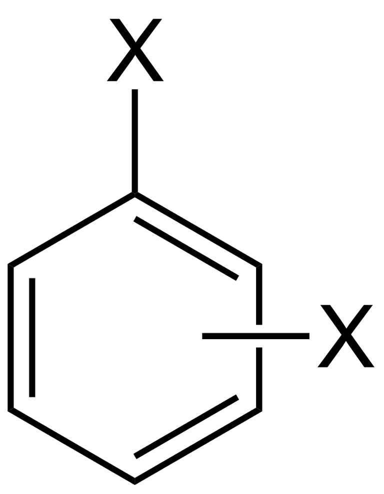 Benzene with two identical substituents