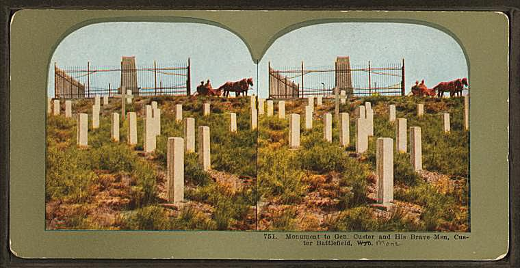Custer Monument Stereograph