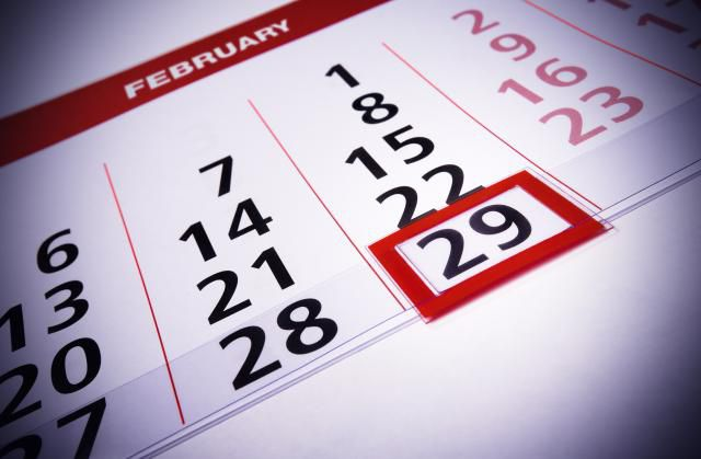 Leap Day on a calendar