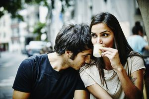 Couple getting coffee