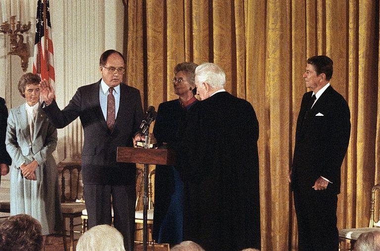 Supreme Court Chief Justice Rehnquist Sworn Into Office