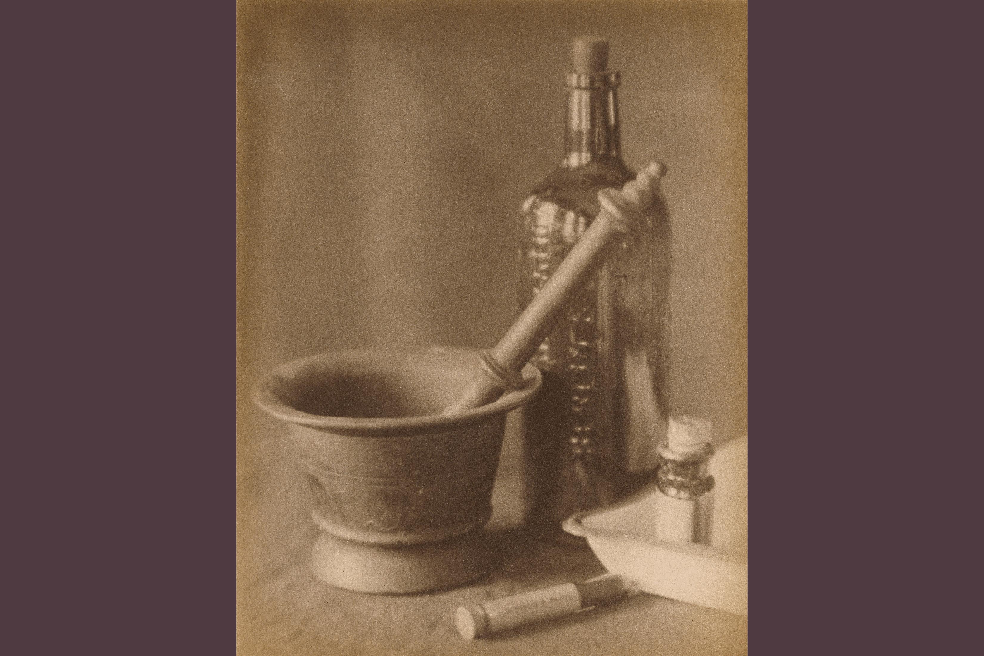 Darkroom Still Life by Doris Ulmann; platinum print, 1918
