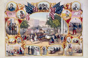 A print of the celebration of the 15th Amendment