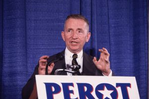 H. Ross Perot speaking during his 1992 presidential campaign