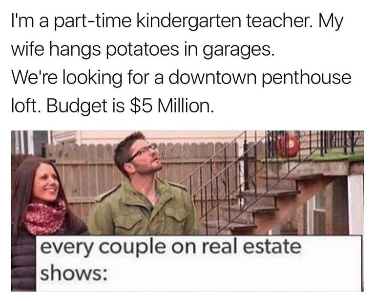 Lets keep it real with these funny hgtv memes how much do potato hangers earn solutioingenieria Image collections