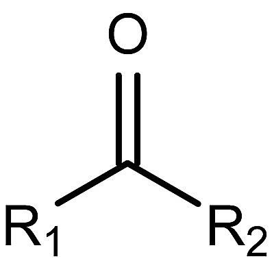 This is the general structure of the ketone functional group.
