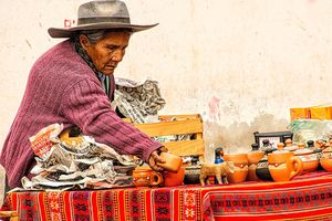 An Argentine woman at the market