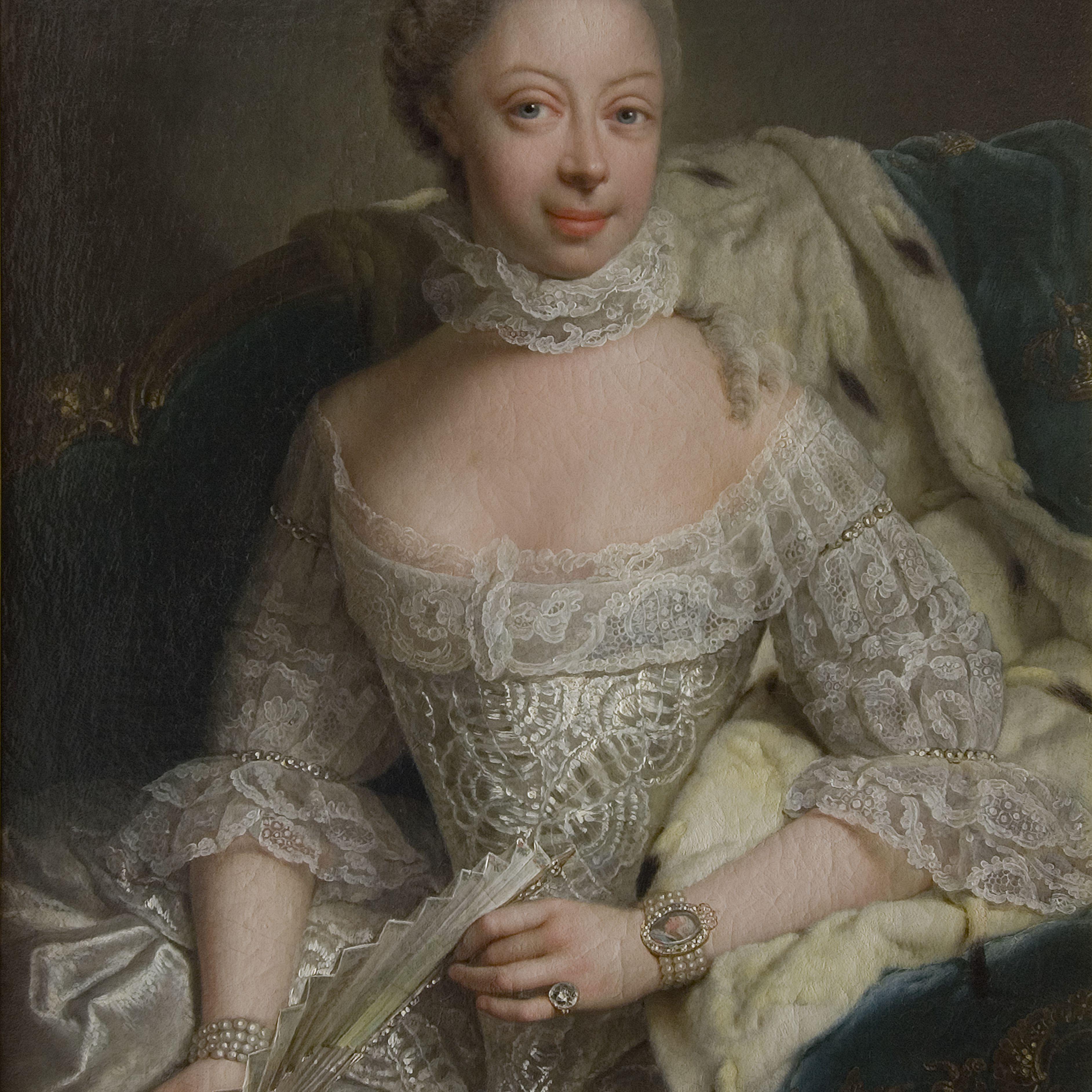 Portrait Of Princess Charlotte Of Mecklenburg-Strelitz (1744-1818)