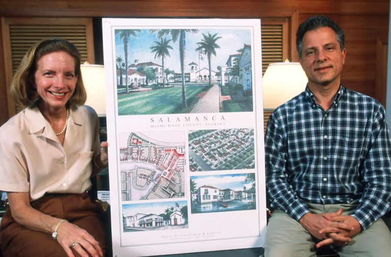 Elizabeth Platzer-Zyberk and Andres Duany in 1999