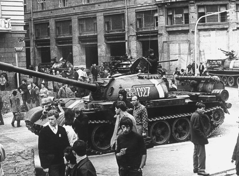 Soviet Tanks in Prague