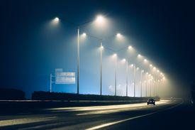 Night on a highway