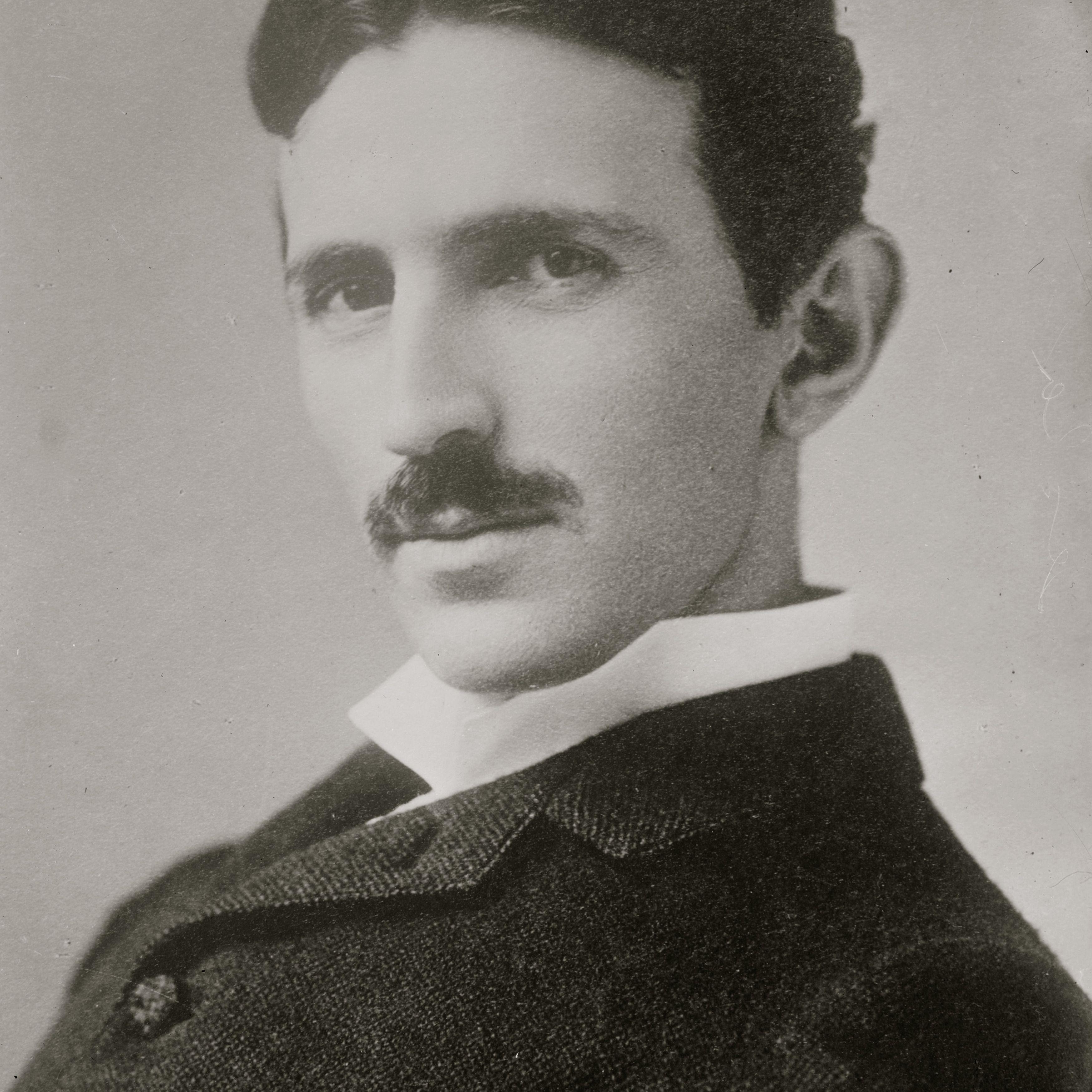 Portrait of Serbian born inventor and engineer Nicola Tesla (1856 - 1943), 1906.