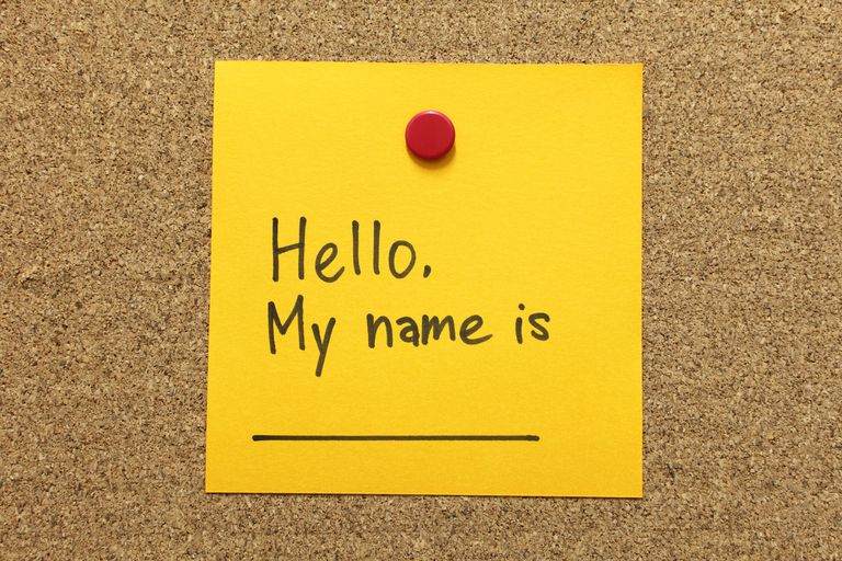 """Self Introduction - Hello, My name is ... on a post it note."""
