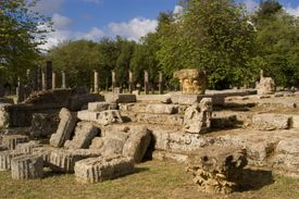 From 11th to 1st century BC Olympia was site of Panhellenic Games, forerunner to modern Olympics.