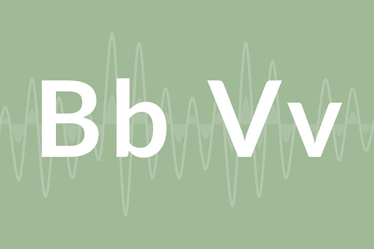 "The letters ""B"" and ""V"""