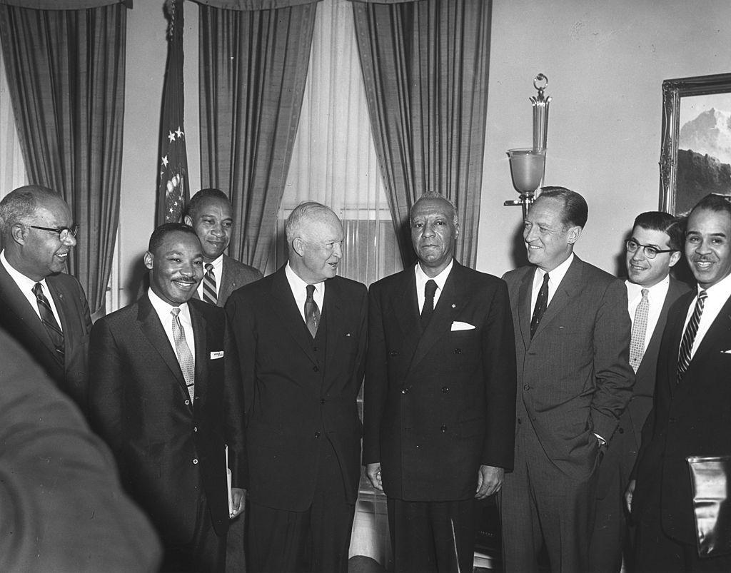 Eisenhower meets civil rights activists