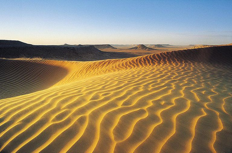 The sands of the Sahara Desert are shown in this photo from Algeria.