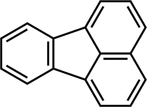 This is the chemical structure of fluoranthene.