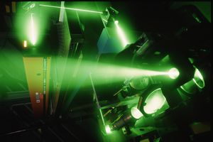 Green argon lasers are useful for testing the quality of mirrors.