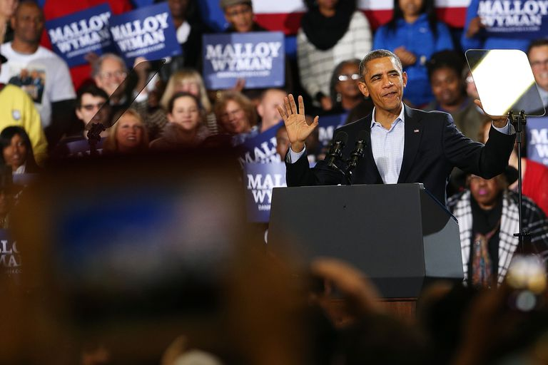 President Obama Attends Rally For The Re-Election Of Connecticut Gov. Malloy