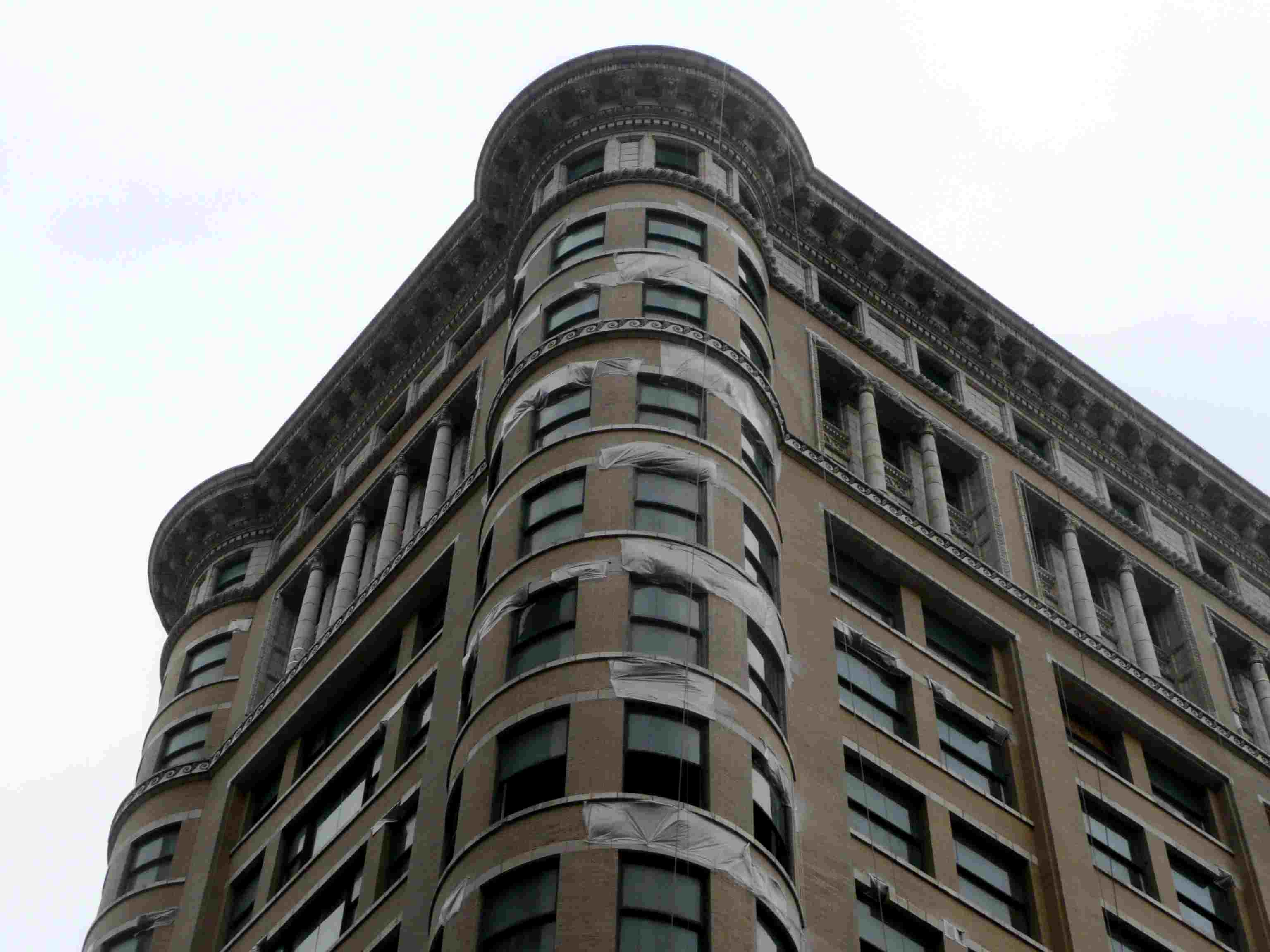 Detail of Corner Windows, Old Colony building Designed by Holabird and Roche, Chicago