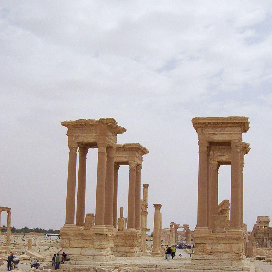 The crossroads plaza in Palmyra