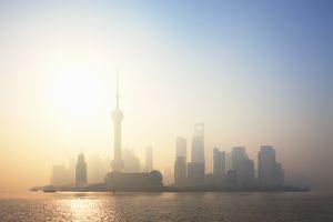 Sunrise over Pudong, Shanghai, China