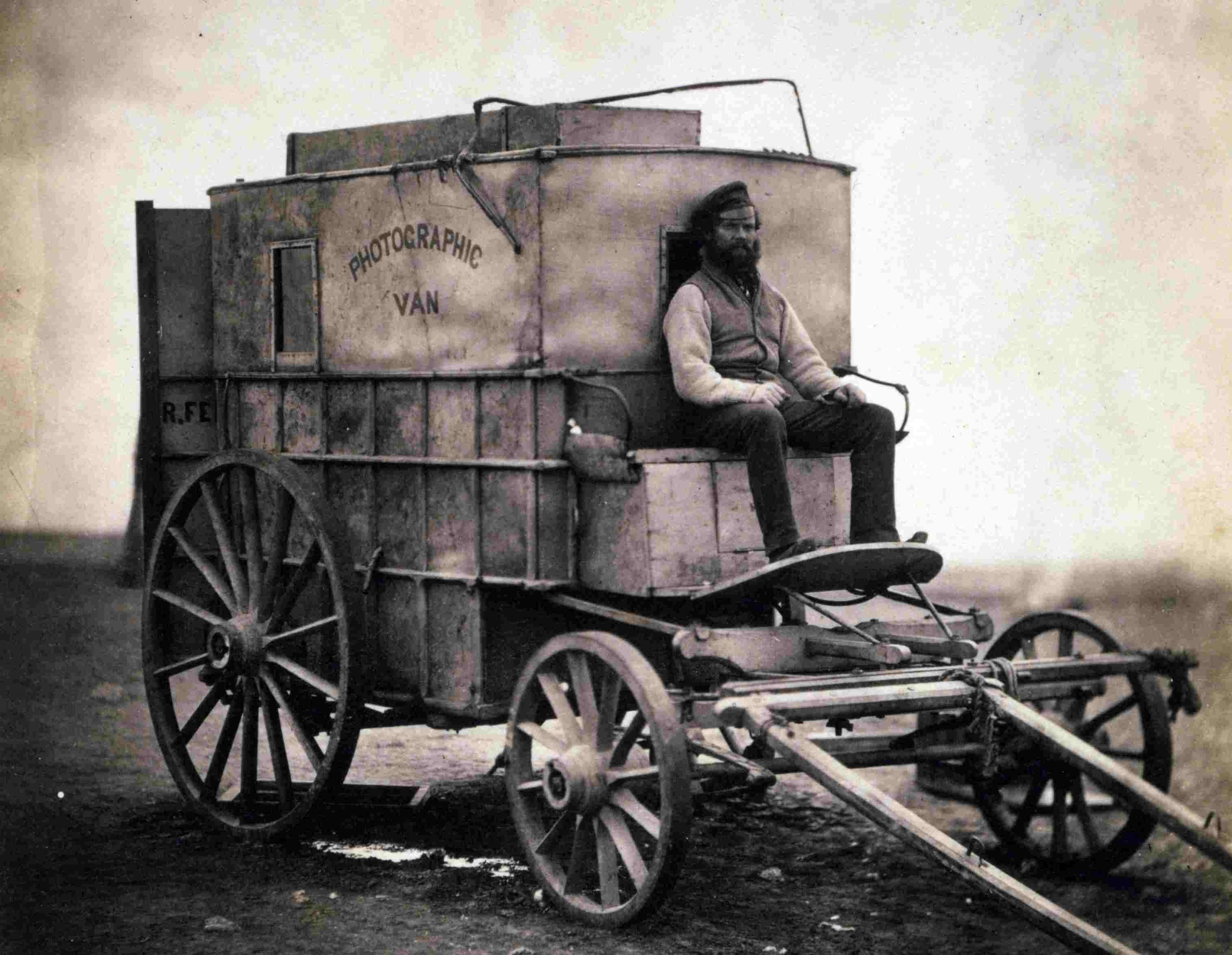 Foto von Roger Fentons Fotowagen aus dem Krimkrieg