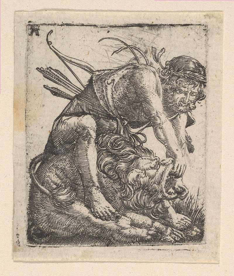 Hercules and the Nimean Lion