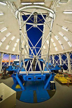 Gemini North telescope, a twin to its counterpart in Chile.
