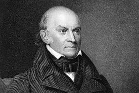 Engraved portrait of John Quincy Adams