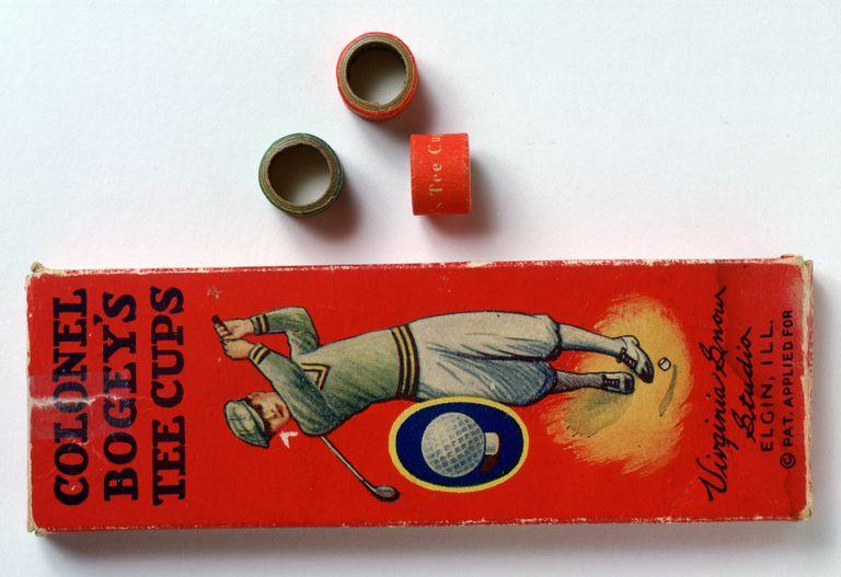 Colonel Bogey Tee cups, cardboard rings that served as golf tees