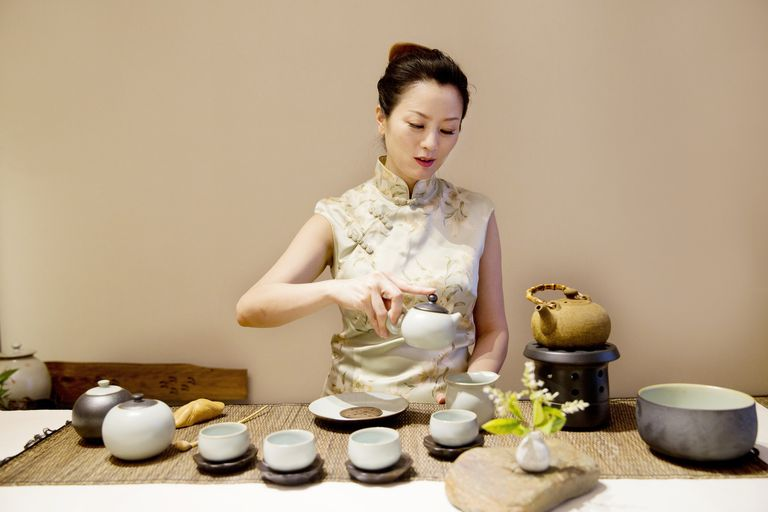 Woman Performing Tea Ceremony