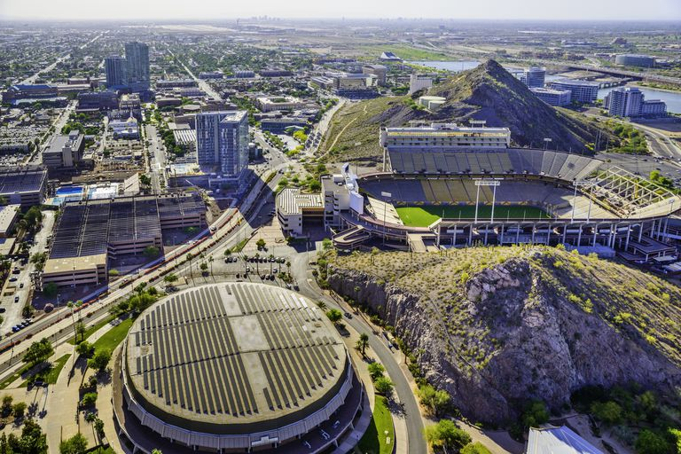 ASU campus Tempe AZ Sun Devil Football Stadium